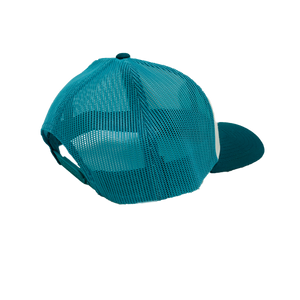 PALM BEACH COUNTY LOCALS CURVED BILL TRUCKER WHITE/TEAL/DEEP TEAL