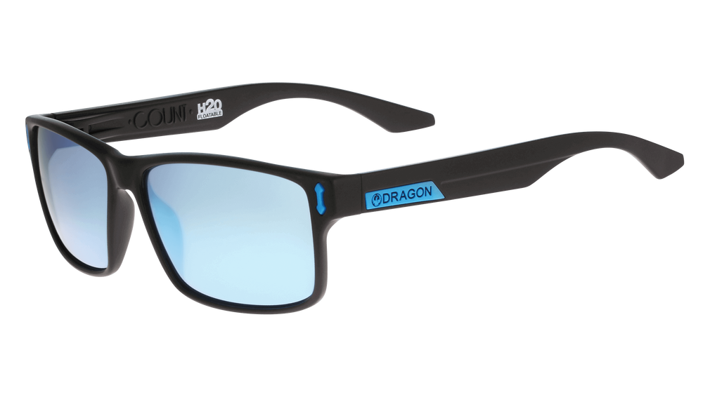 DRAGON COUNT LL MI H20- MATTE BLACK/ SKY BLUE