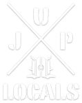 LOCALS JUP STICKER (WHITE) DYE CUT 5""