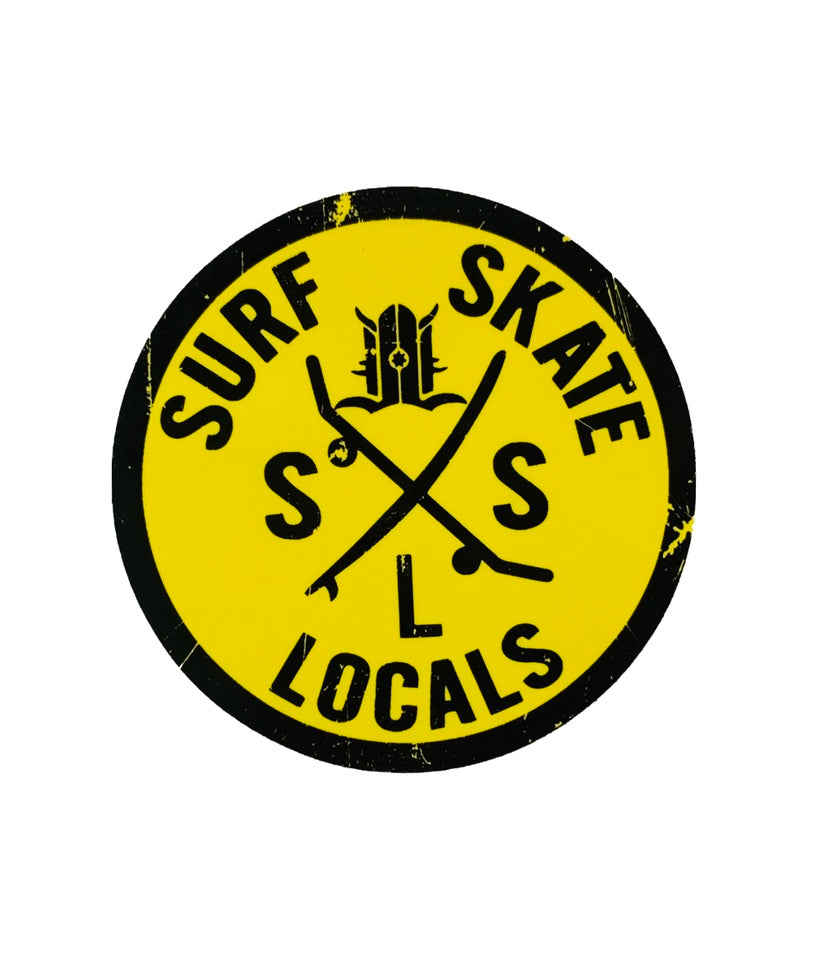SURF SKATE LOCALS STICKER 3""