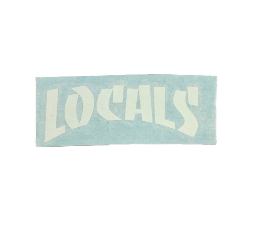 LOCALS THRASHER DYE CUT (WHITE) 3""
