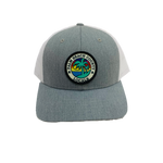 PALM BEACH COUNTY LOCALS KIDS CURVED BILL TRUCKER HEATHER GREY/WHITE