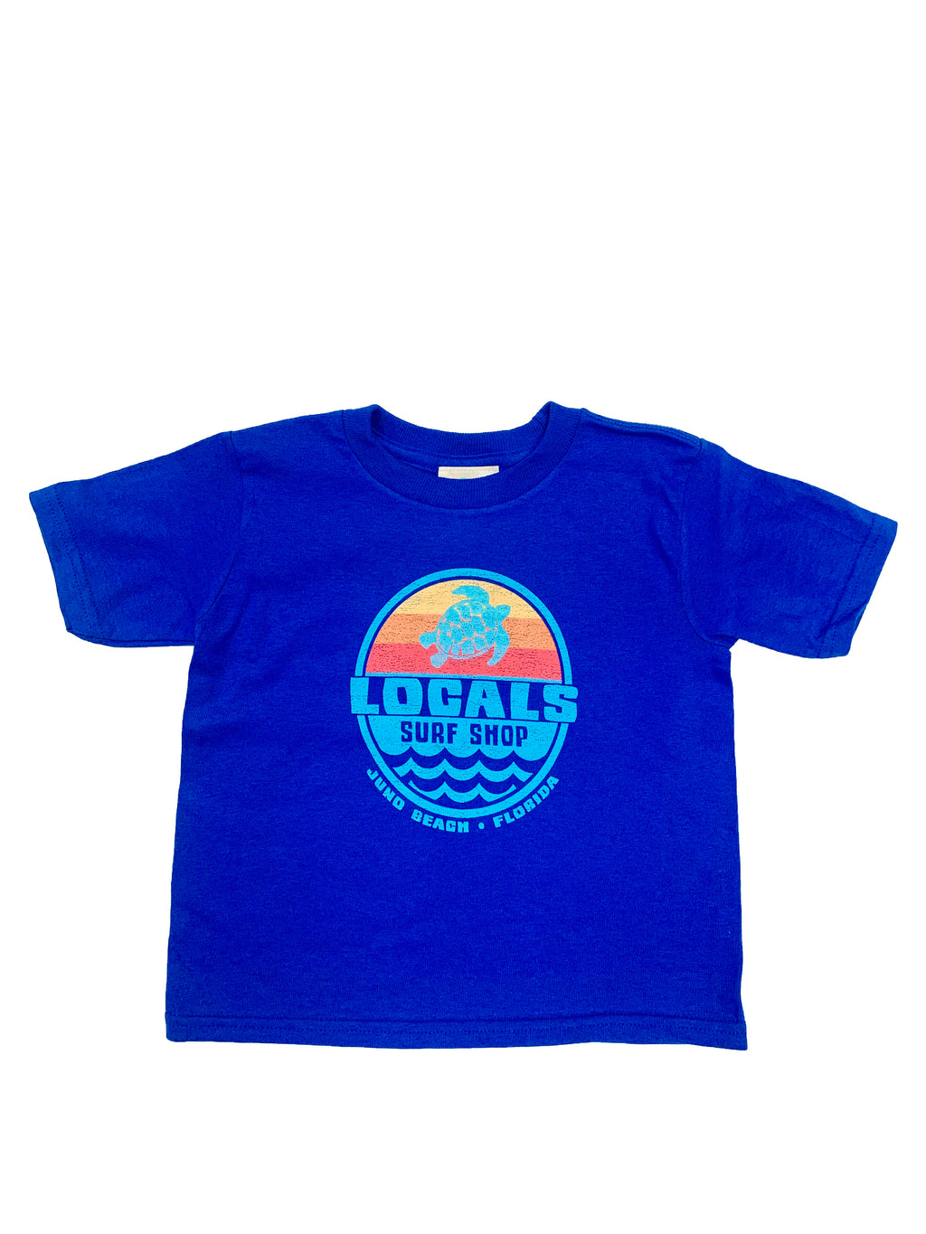 LOCALS TODDLER SEA LIFE SUNSET COTTON TEE ROYAL