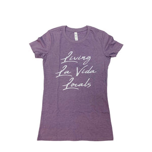LIVING LA VIDA LOCALS FAVORITE TEE HEATHER PURPLE
