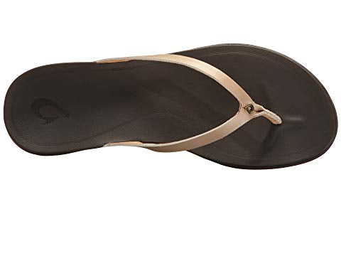 WOMEN'S OLUKAI HO'OPIO LEATHER BUBBLY/DK JAVA