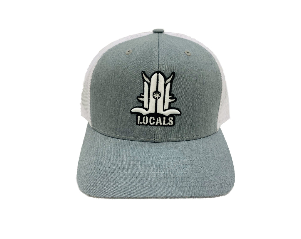 LOCALS 3D CURVED BILL TRUCKER HTR GREY/WHITE