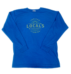 LOCALS BOARD STAMP TRI-BLEND L/S TEE HEATHER ROYAL