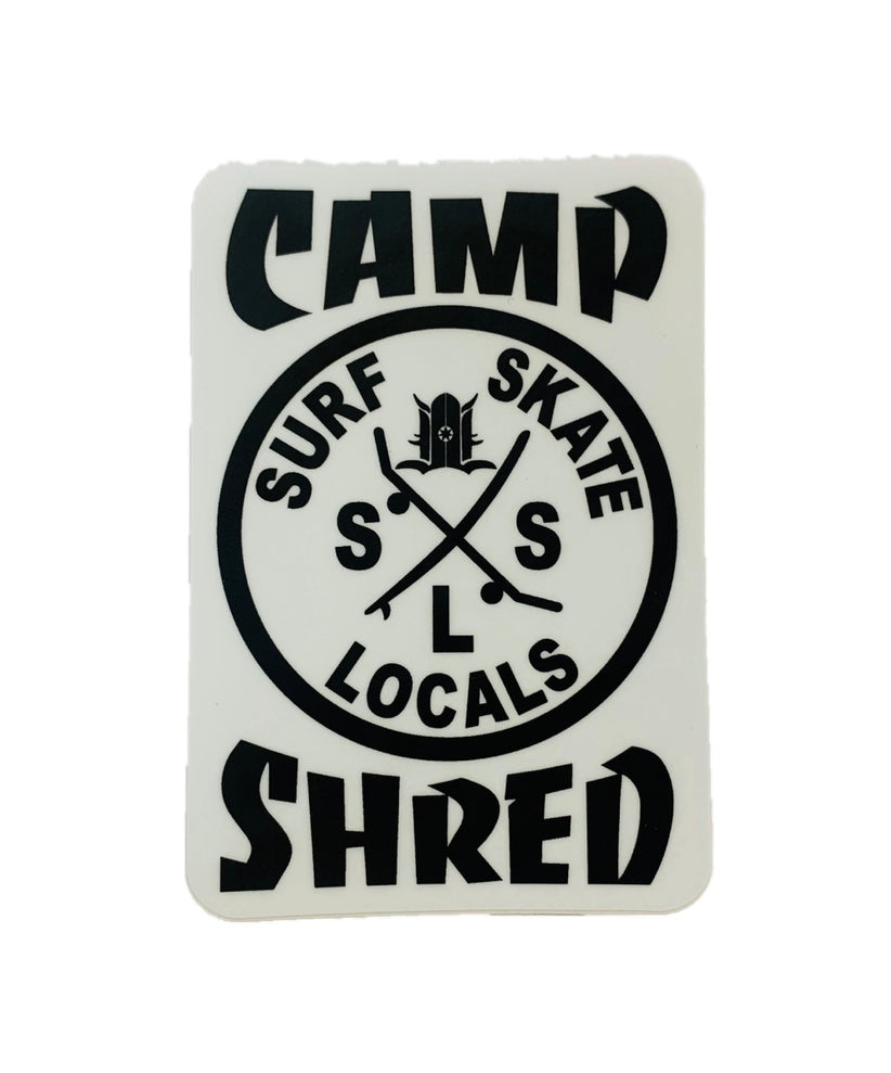 LOCALS CAMP SHRED STICKER 3""