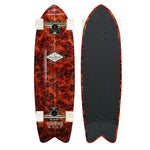 ALUMINATI BURLE WOOD FISH CRUISER BOARD 8.12 x 28