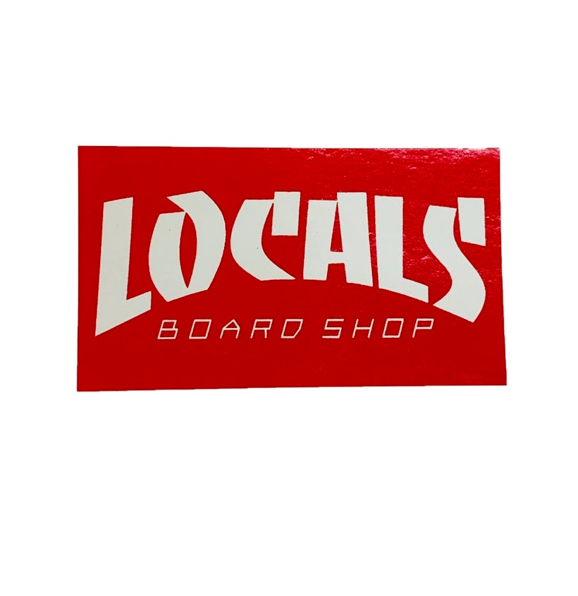 LOCALS THRASHER STICKER (RED) 3""