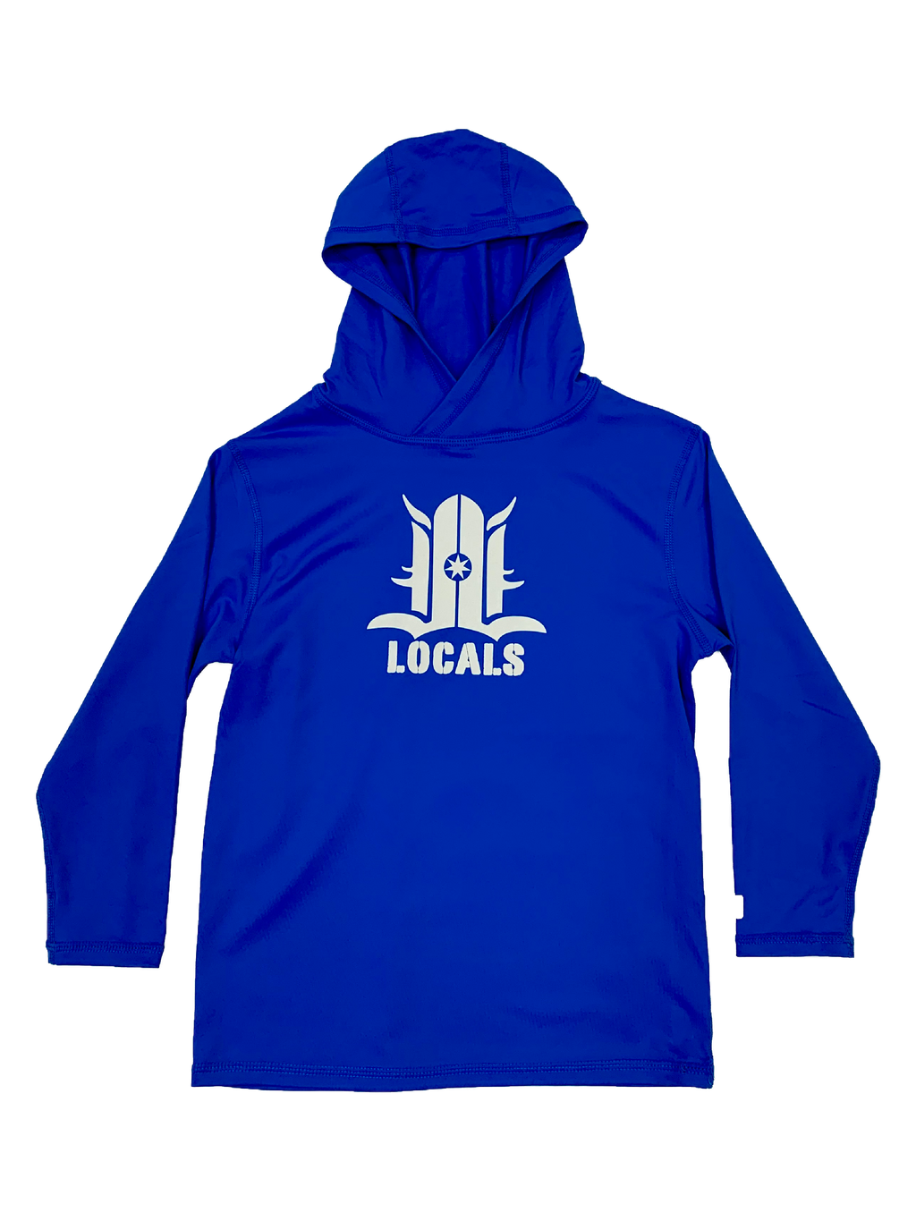 LOCALS TODDLER MY HOODIE  RASH GUARD UPF 50 ROYAL