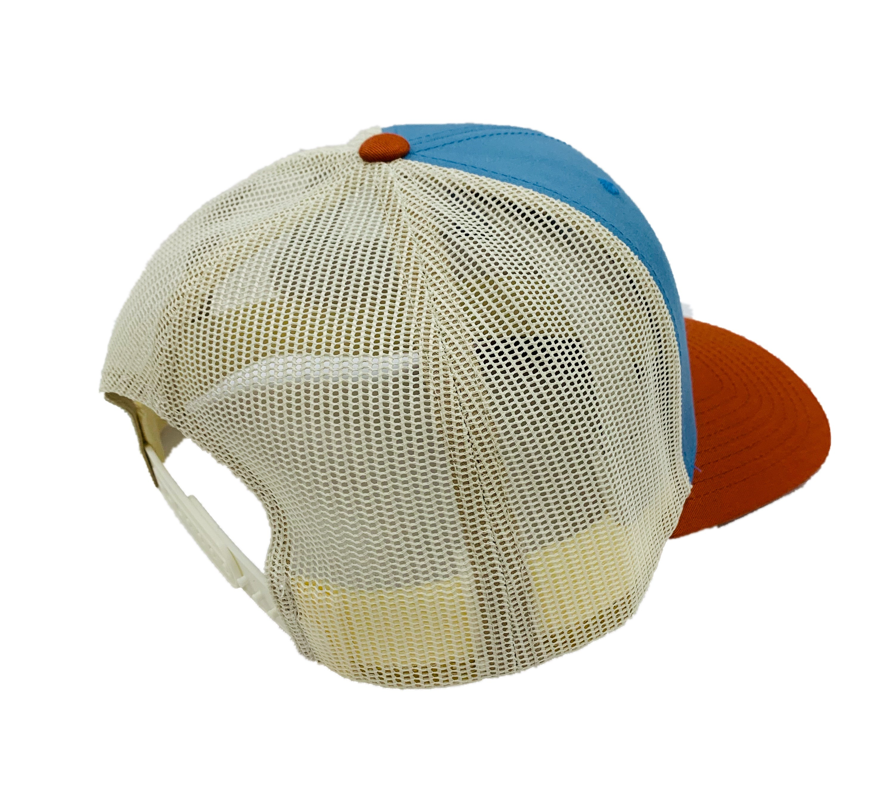 LOCALS 3D CURVED BILL TRUCKER COLUMBIA BLUE/BIRCH/DARK ORANGE