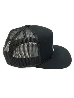 LOCALS RESPECT 7 PANEL BLAT BILL TRUCKER BLACK