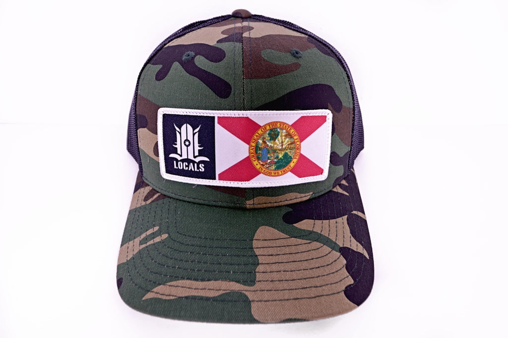 FLORIDA LOCALS TRUCKER CAMO/BLACK