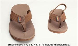TODDLER RAINBOW EAST CAPE W/ BACKSTRAP SIERRA BROWN