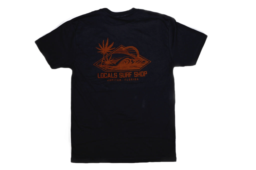 LOCALS DIAMOND PALM 100% COTTON FINE JERSEY TEE