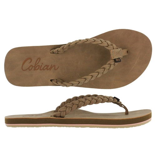 COBIAN WOMENS BRAIDED PACIFICA TAN