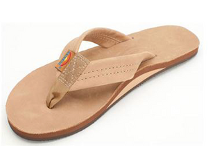 WOMENS  RAINBOW ORIGINAL SIERRA BROWN LEATHER SINGLE