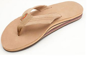 MENS  RAINBOW SIERRA BROWN LEATHER DOUBLE