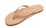 WOMENS  RAINBOW SIERRA BROWN NARROW SINGLE LEATHER
