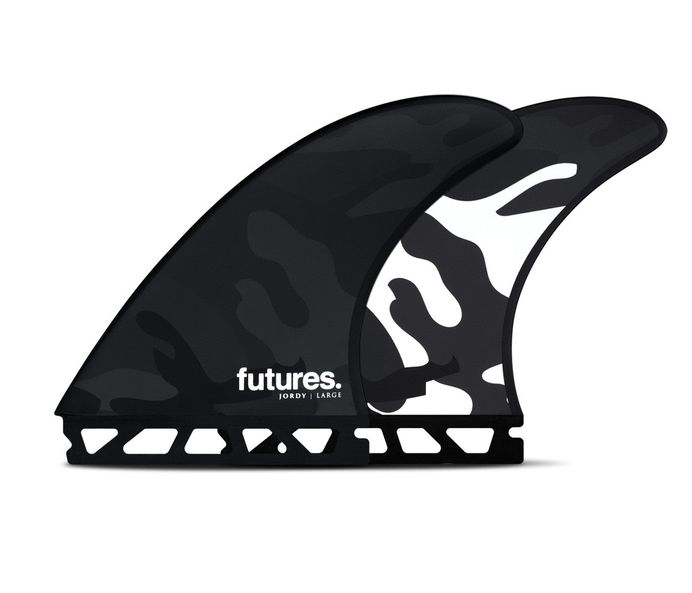 FUTURES JORDY LARGE HC THRUSTER BLACK WHITE CAMO