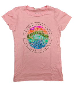 LOCALS GIRLS SEASIDE DREAMS TEE LIGHT PINK