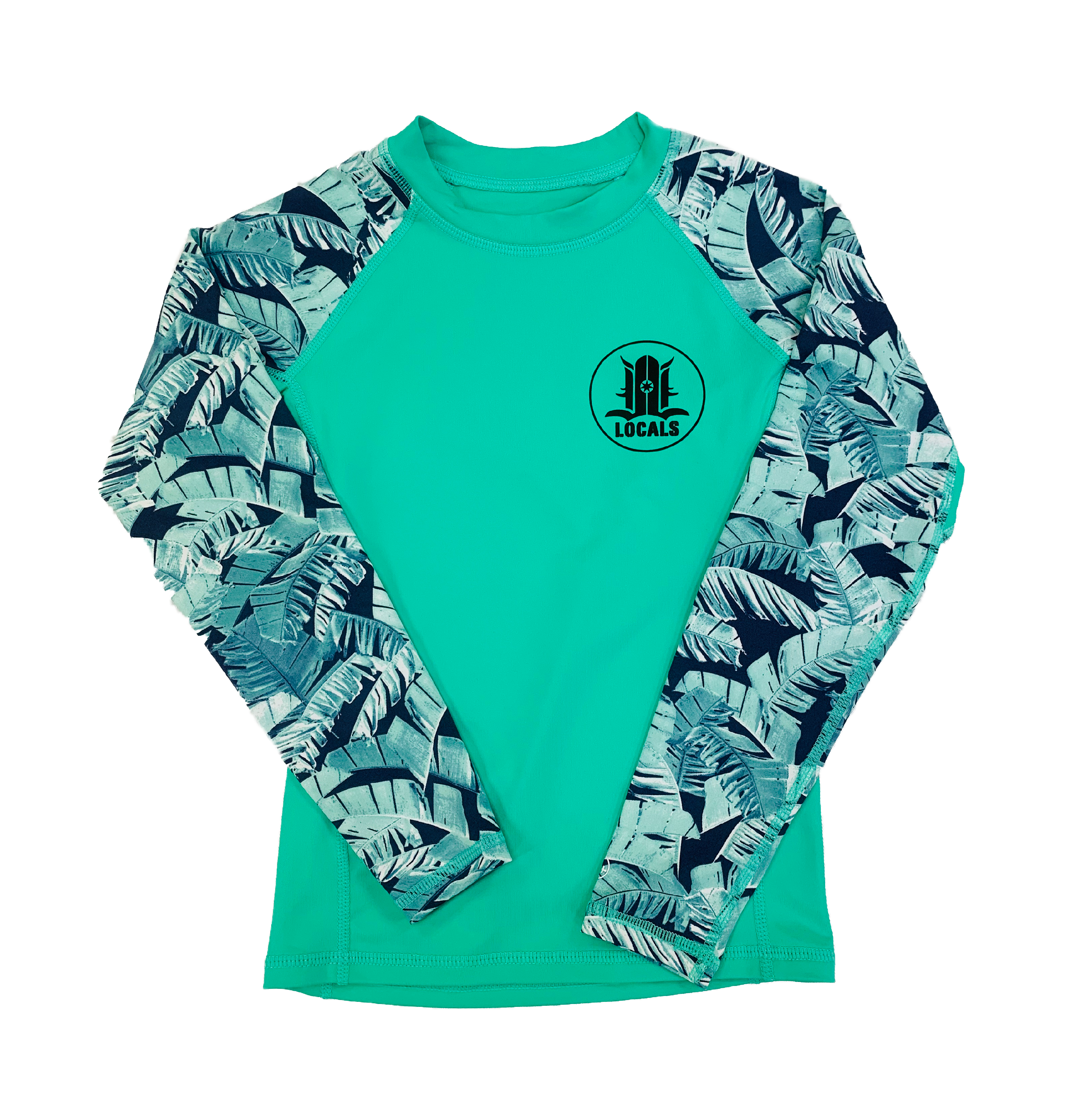 LOCALS GIRLS LENA L/S RASH GUARD UPF 50 MINT