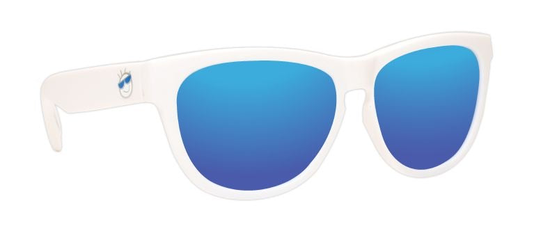 MINI SHADES 8-12 WHITE/BLUE MIRROR
