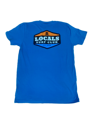 LOCALS SURF CLUB PATCH SUEDED CREW TURQUOISE