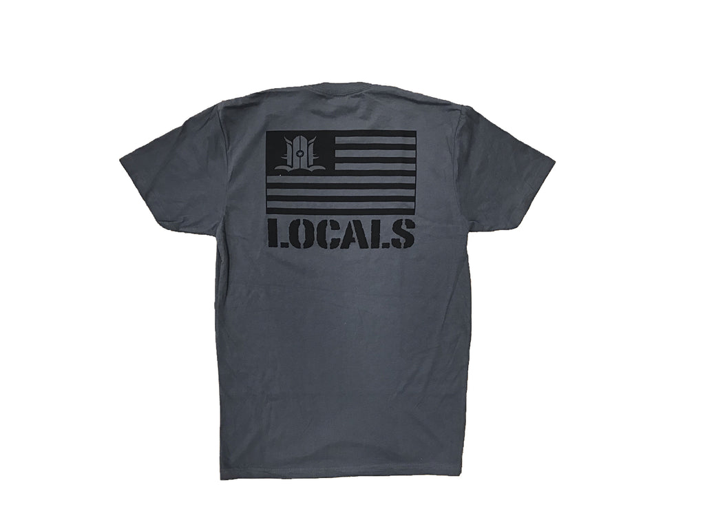 LOCALS FLAG SUEDED CREW HEAVY METAL