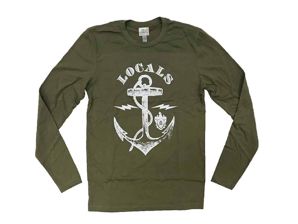 MENS LSS ANCHOR LS GREEN