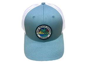 PALM BEACH COUNTY LOCALS CURVED BILL TRUCKER SMOKE BLUE/WHITE