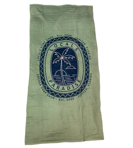 LOCALS PARADISE PALM LARGE BEACH TOWEL SAGE