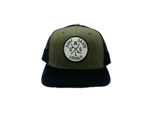 SURF SKATE LOCALS SLIGHT CURVE TRUCKER OLIVER/BLACK