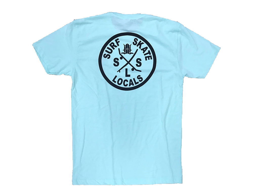LOCALS SSL 100% COTTON TEE BABY BLUE