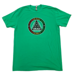 LOCALS MENS RESPECT RASTA FADE SUEDED CREW ENVY GREEN