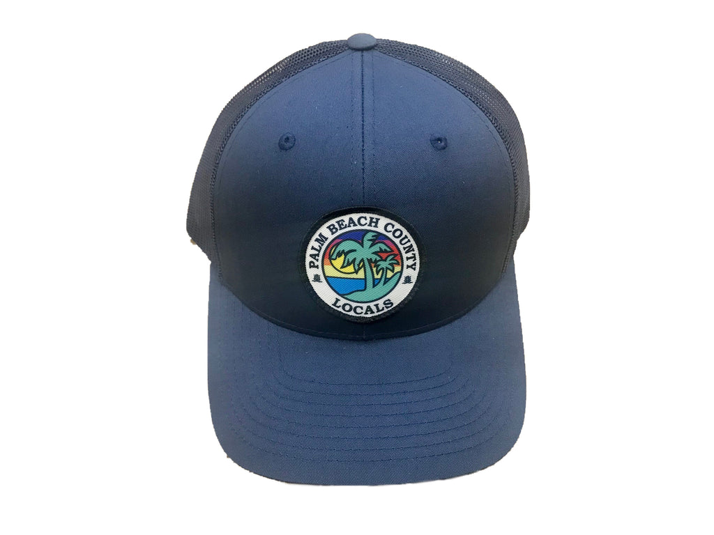 PALM BEACH COUNTY LOCALS CURVED BILL TRUCKER NAVY