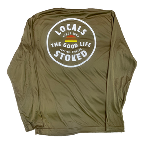 LOCALS GOOD LIFE CIRCLE PERFORMANCE L/S TEE COYOTE BROWN
