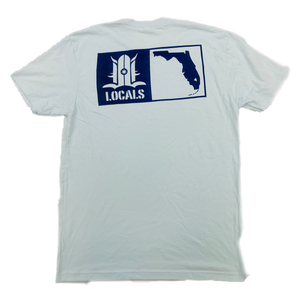 LOCALS FLORIDA BOARDERS SUEDED CREW LIGHT BLUE