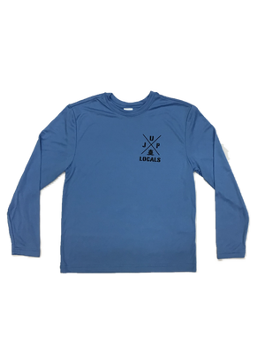 JUP LOCALS YOUTH L/S TECH TEE CAROLINA BLUE