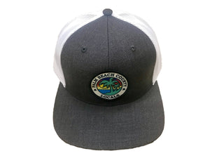 PALM BEACH COUNTY LOCALS FLAT BILL TRUCKER HTR. CHARCOAL/WHITE