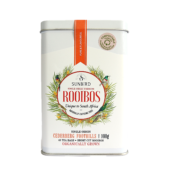 CEDERBERG FOOTHILLS • Regular-Cut Rooibos in 40 Compostable Tea Bags • 100g