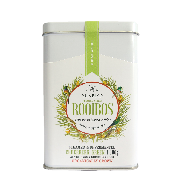 CEDERBERG GREEN • Regular-Cut Rooibos Leaf in 40 Tea Bags • 100g