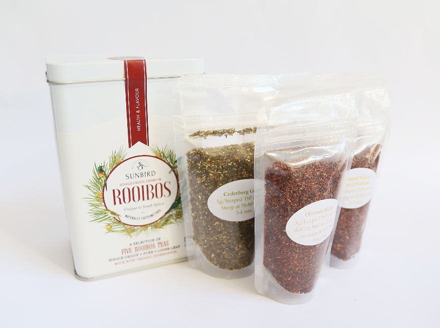 Loose leaf selection of five rooibos teas