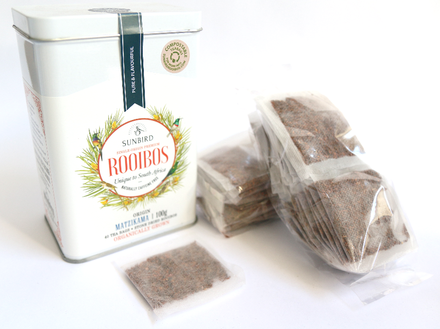 Sunbird Rooibos Matzikama Single Origin rooibos tea in tea bags