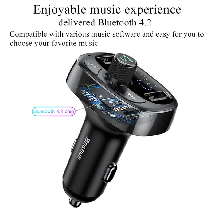 Baseus Car Charger USB FM Transmitter Bluetooth Audio MP3 iPhone Samsung