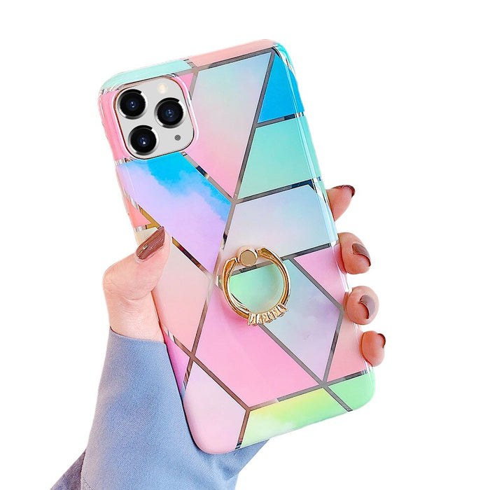 iPhone 11 Electroplated Geometric Marble