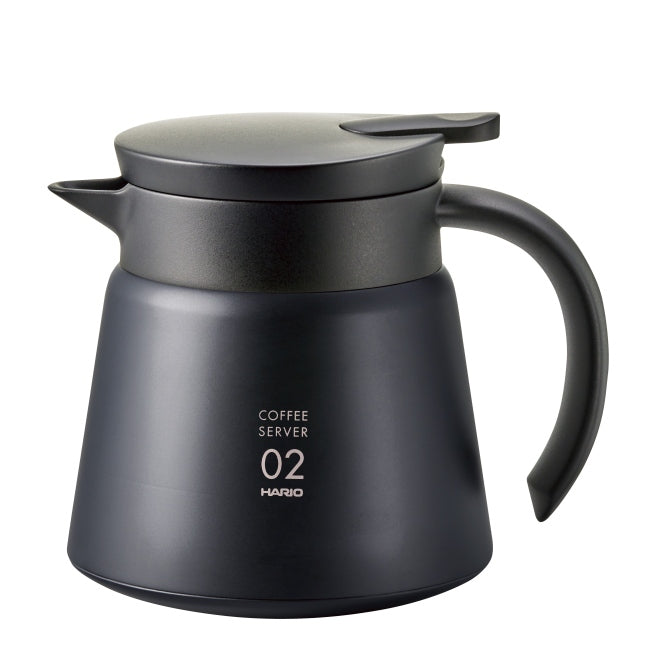 HARIO V60 Insulated Stainless Steel Server 600ml - black - greenwheelcoffee