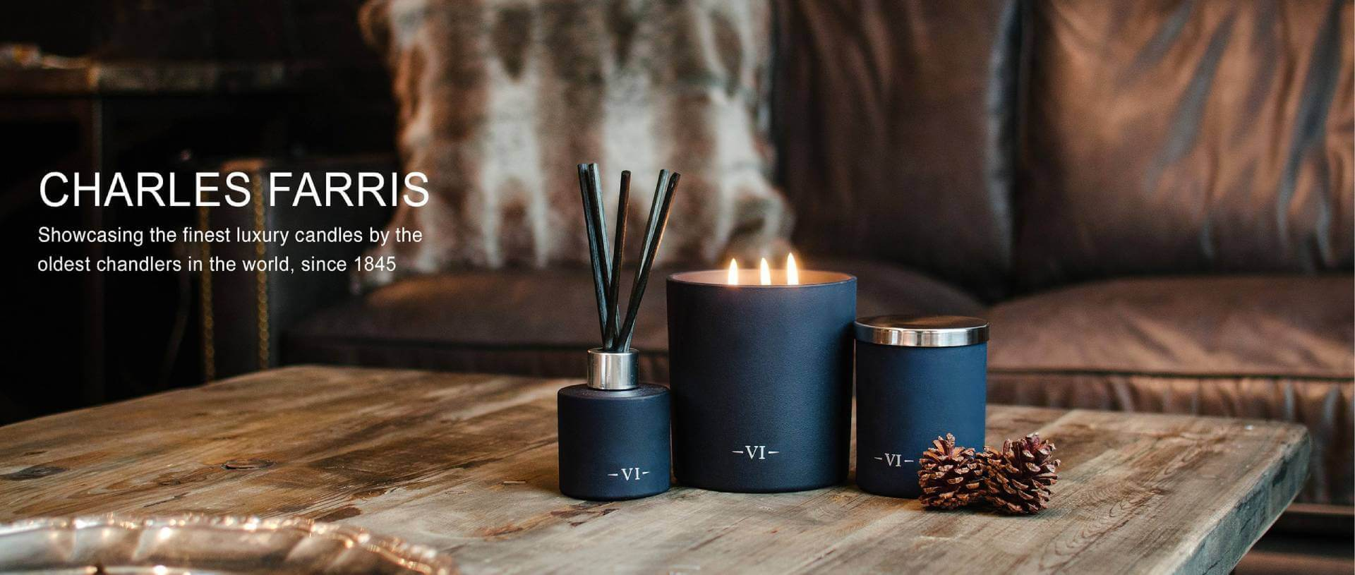 Charles Farris Luxury Designer Candles and Home Fragrance Room Diffusers - Unique and Unusual Gifts for the Home