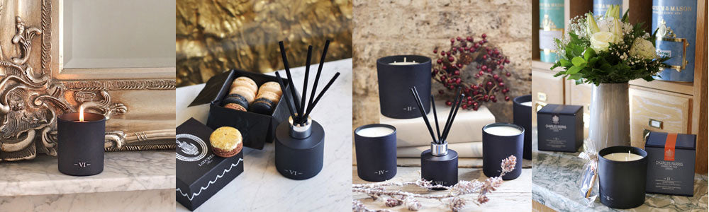 Charles Farris Luxury Scented Slow Burn Candles and Fragrance Reed Diffusers. By Appointment to Her Majesty the Queen